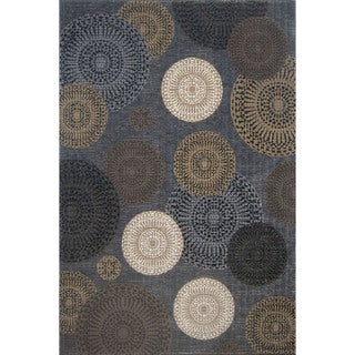 Mystique Chandler Black Area Rug (5' x 7'7)