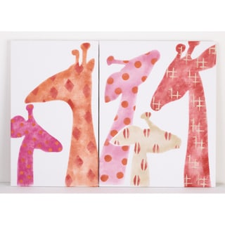 Cotton Tale Sundance 2-piece Giraffe Wall Art