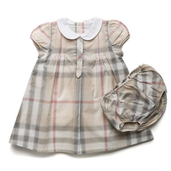 Burberry Girl's New Nova Check Pintuck Dress and Bloomer Set