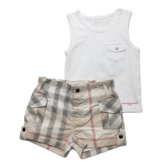 Burberry Boy's New Nova Check Cargo Short and Tank Set