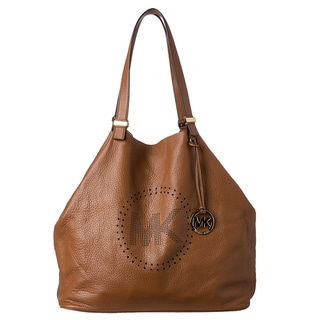 MICHAEL Michael Kors XL Luggage Leather Perforated Logo Grab Bag