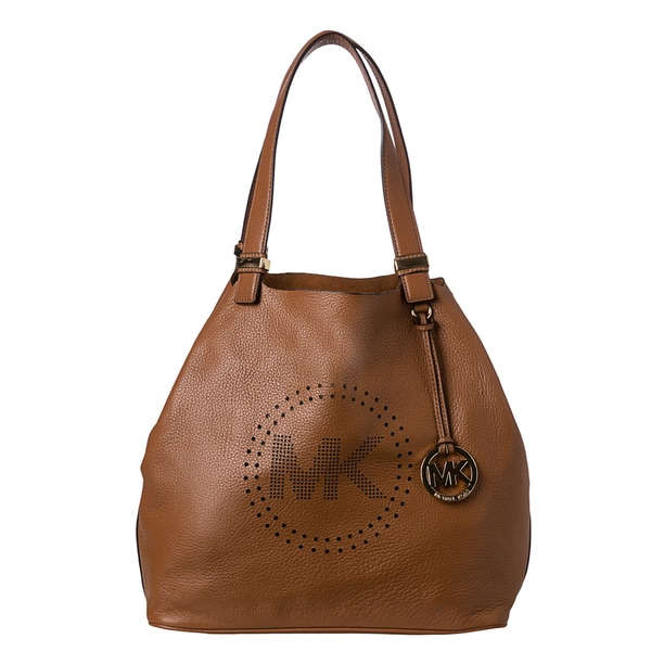 MICHAEL Michael Kors Large Leather Perforated Logo Grab Bag