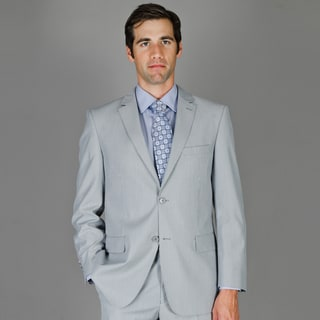 Bertolini Men's Grey Minisripe 2-button Wool and Silk Blend Suit