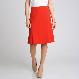 Sharagano Noir Women's Scarlet Red A-line Career Separate Skirt