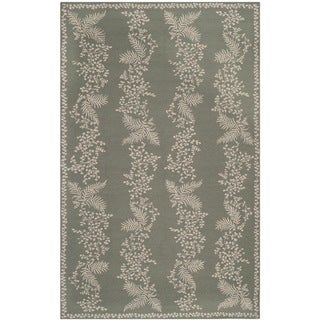 Martha Stewart Fern Row Tarragon/ Green Wool Rug (8'6 x 11'6)