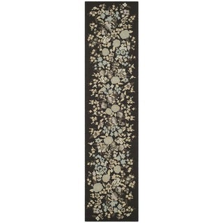 Martha Stewart Watercolor Garden Almond Wool Rug (2'3 x 10')
