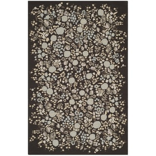 Martha Stewart Watercolor Garden Inkwell Wool Rug (7'9 x 9'9)