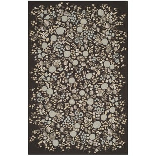 Martha Stewart Watercolor Garden Inkwell Wool Rug (8'6 x 11'6)