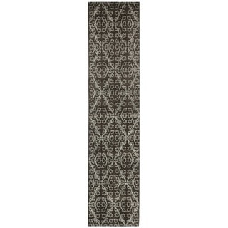 Martha Stewart Strolling Garden Coffee/ Brown Wool/ Viscose Rug (2'3 x 10')