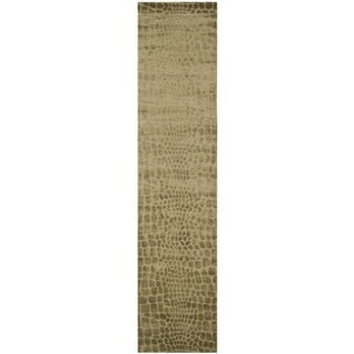 Martha Stewart Amazonia River/ Bank Silk Blend Rug (2'3 x 10')