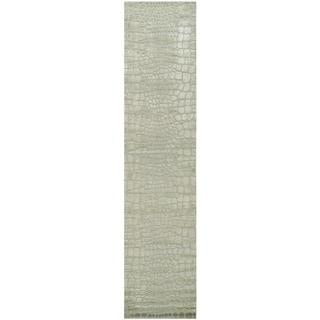 Martha Stewart Amazonia Canopy/ Green Silk Blend Rug (2'3 x 10')