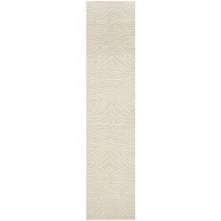 Martha Stewart Journey Cloud Silk/ Wool Rug (2'3 x 10')