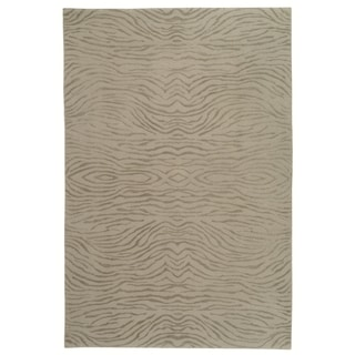Martha Stewart Journey Stone Silk/ Wool Rug (9'6 x 13'6)