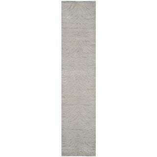 Martha Stewart Journey Stone Silk/ Wool Rug (2'3 x 10')