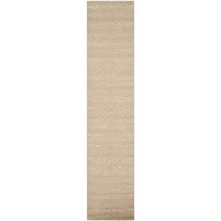 Martha Stewart Journey Desert Silk/ Wool Rug (2'3 x 10')