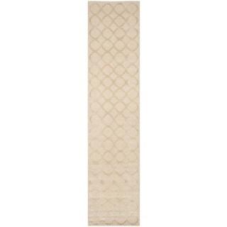 Martha Stewart Quatrefoil Salmon Silk/ Wool Rug (2'3 x 10')