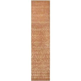 Martha Stewart Seaflora Corraline Silk/ Wool Rug (2'3 x 10')