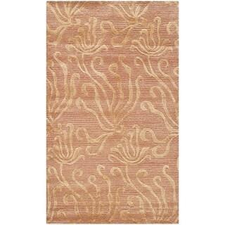 Martha Stewart Seaflora Corraline Silk/ Wool Rug (3'9 x 5'9)