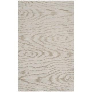 Martha Stewart Faux Bois Driftwood Silk/ Wool Rug (2'6 x 4'3)