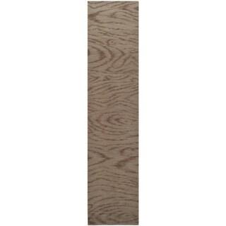 Martha Stewart Faux Bois Truffle Silk/ Wool Rug (2'3 x 10')