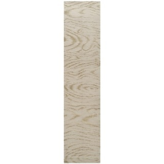Martha Stewart Faux Bois Lichen Silk/ Wool Rug (2'3 x 10')