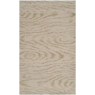 Martha Stewart Faux Bois Lichen Silk/ Wool Rug (2'6 x 4'3)