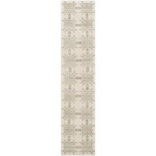 Martha Stewart Tracery Birch Silk/ Wool Rug (2'3 x 10')