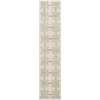 Martha Stewart Tracery Birch Silk/ Wool Rug (2'3 x 10')