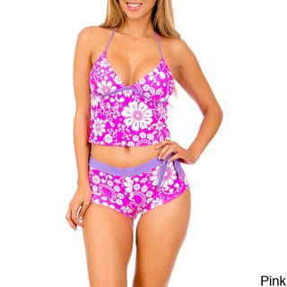 Stanzino Floral Print Tankini Two-piece Swimsuit