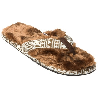 Minx Girls 'Stratus' Chocolate Faux-Fur Sandals
