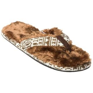Minx Girls 'Stratus' Chocolate Faux-Fur Sandals
