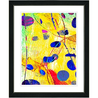 Studio Works Modern 'Plyos Yellow' Framed Print
