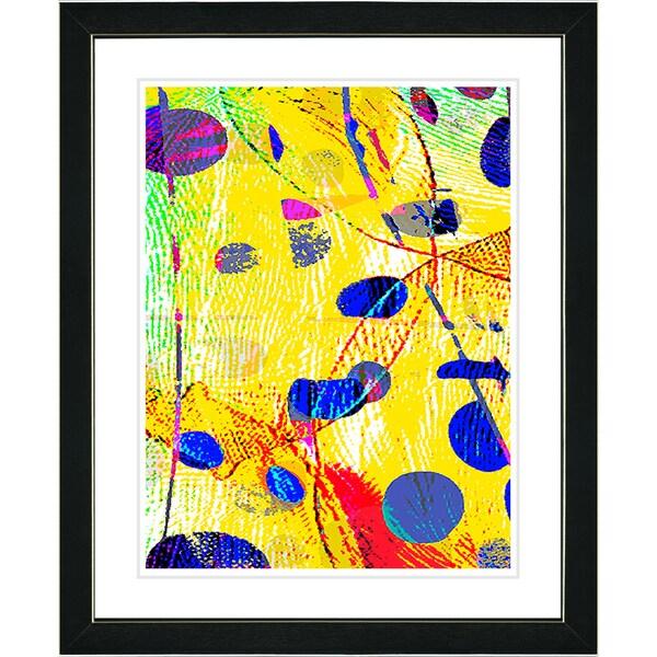 Studio Works Modern 'Plyos Yellow' Framed Print