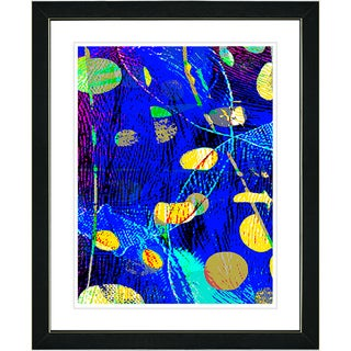 Studio Works Modern 'Plyos - Blue' Framed Print