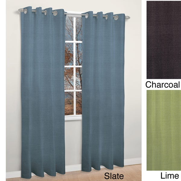 ... Grommet Top Thermal Insulated 84-inch Blackout Curtain Panel Pair