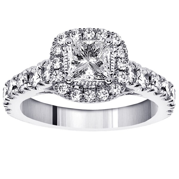 14k, 18k Gold or Platinum 2ct TDW Diamond Engagement Ring (F-G, SI1-SI2)