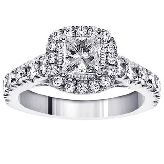14k, 18k Gold or Platinum 2ct TDW Diamond Engagement Ring (F-G, SI1-SI2)