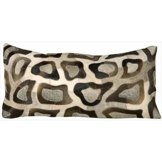 Mina Victory Cowhyde Cobble Stone Multicolor 14 x 30-inch Dcor Pillow by Nourison