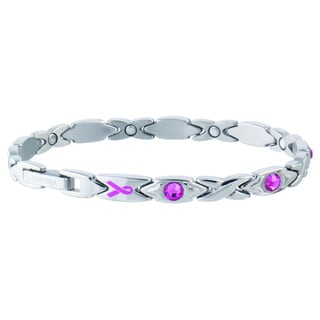 Sabona Courageous Pink Ribbon Magnetic Bracelet