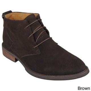 Oxford and Finch Men's Suede High-top Lace-up Shoes