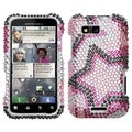 MYBAT Twin Stars Diamante Case for Motorola MB525 Defy