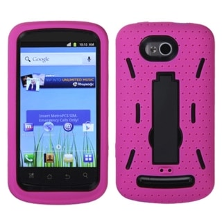ASMYNA Black/ Hot Pink Case for Coolpad 5860E Quattro 4G