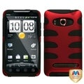 MYBAT Titanium Red/ Black Fishbone Case for HTC EVO 4G