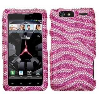 MYBAT Zebra/ Hot Pink Diamond Case for Motorola XT912M Droid Razr Maxx