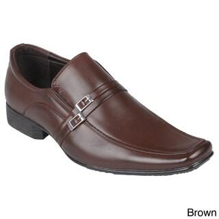 Boston Traveler Men's Buckle Detailed Slip-on Loafers