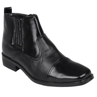 Boston Traveler Men's High Top Square Toe Dress Shoes