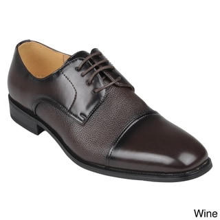 Boston Traveler Men's Square Toe Lace-up Dress Oxfords