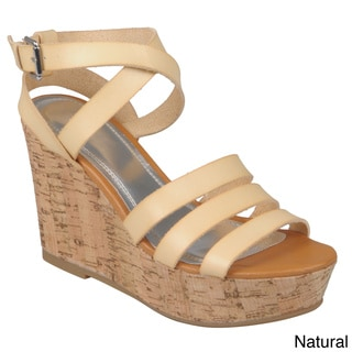 Hailey Jeans Co. Women's 'Pippa-18' Strappy Wedge Sandals
