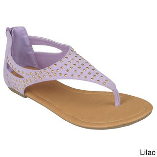 Journee Collection Women's 'Subrina-27' Studded T-strap Sandals