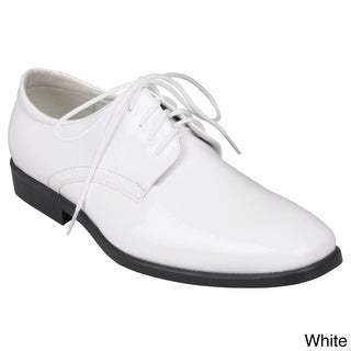 Oxford & Finch Men's Lace-up Tuxedo Shoes